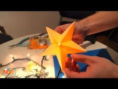 mini paper stars, which fit onto your Christmas lights to create a strand of festive glowing stars.