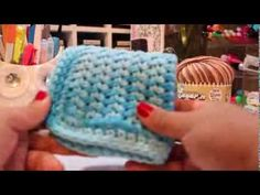 Cotton Crochet Washcloths Easy How To - YouTube