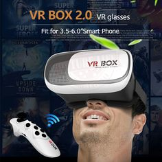 """>> Click to Buy << New VR Virtual 3D Glasses Google cardboard HeadMount VR BOX 2.0  for 3.5"""" - 6.0"""" Smart Phone + Bluetooth Remote Controller #Affiliate"""