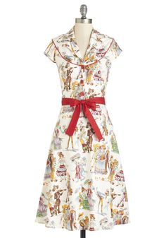 Cause for Skele-bration Dress. You feel extra festive when youre clad in this jovial dress! #multi #modcloth