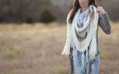 This crocheted triangle wrap pattern includes a picture tutorial on how to make it! A gorgeous shawl that's perfect to make for yourself or a loved one.