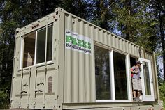 Cargo Camping - you can rent this shipping container in a campground near Seattle.