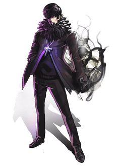 Anime Oc, Anime Demon, Anime Guys, Fantasy Art Men, Dark Fantasy, Amaterasu, Shadow Warrior, Jackdaw, Character Creation
