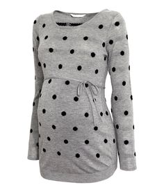 Check this out! Jumper in a soft, fine knit containing some wool with a slightly wider neckline and tie under the bust. - Visit hm.com to see more.