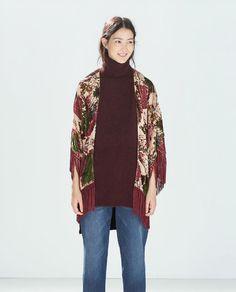 New 2014 Women's Cardigan Tassel Print Floral Batwing Sleeve Novelty Kimono Jackets Coats Outwear