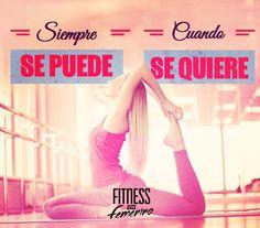 Siempre se puede, cuando se quiere. Fitness en femenino.