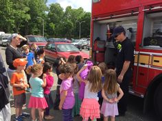 Fire Station 21 participating in a Truck Day and fire engine tour at local school today. 5/27/15
