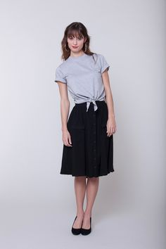 Seamwork Style: Zinnia skirt + Jane T-shirt