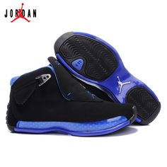 new style 2421c 85bbc 305869-107 Air Jordan 18 Original OG Women Black Blue A24004,Jordan-Jordan