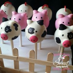 Farm Themed Cake Pops!     Follow Us on Instagram  @SoSweetCandyBuffets    Details are everything! A fence for that final touch. The benefits of buying from small businesses     #cakepops #farmanimals #farmtheme #farmthemedbirthday #kidsbirthdayparties #candybuffet #popularphoto #baker #sanfernandovalley #818 #sfv #losangeles #sosweetcandybuffets #givethemsomethingtotalkabout