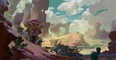 Desert Nuggets, dan li on ArtStation at https://www.artstation.com/artwork/PqVOn