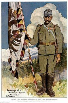 Colour bearer 3rd Tyrolian Kaiser Jaeger Regiment