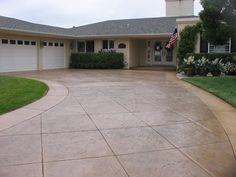 Stamped Concrete Driveway. Featured 4/11/13. D. E. Contreras Construction Lemon Grove, CA