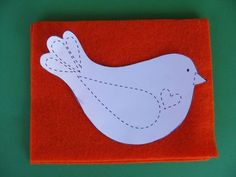 Felt bird template - thank you gift