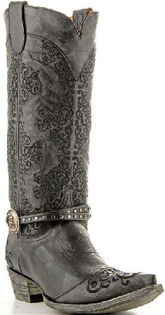 Womens Old Gringo Boots Inese in Black