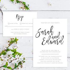 Printable Wedding Invitation/ RSVP/ Save the by GreybeePrintables