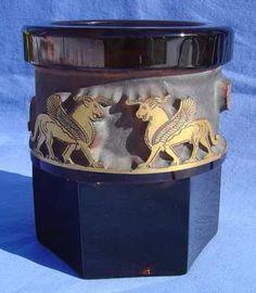 Moser Deep Acid Cut Back Glass Vase | eBay
