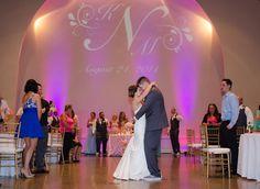 Kayla & Matt's Summer Wedding at Winter Park Civic Center. Kayleen Kelsey Photography  Uplighting, Monogram and Entertainment provided by White Rose Entertainment