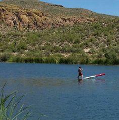 Little Labor day fun on the 14' Boga Tsunami at Canyon Lake, Arizona.   #supaz #paddleaz #bogasup #canyonlakeaz