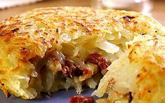 Batata com carne-seca e cream cheese