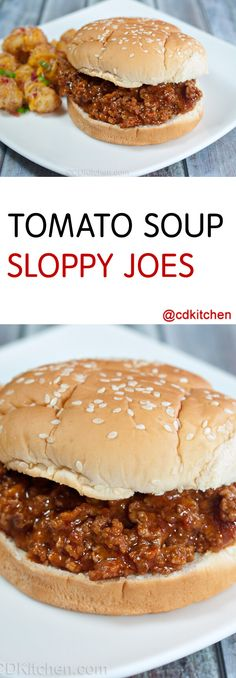 Tomato Soup Sloppy Joes Recipe From CDKitchen Com. The Savvy Kitchen: Tomato Soup Sloppy Joes. Sloppy Joes And Four Cheese Soup. Sloppy Joe Recipe Crock Pot, Best Sloppy Joe Recipe, Tomato Soup Sloppy Joe Recipe, Slow Cooker Sloppy Joes, Tomato Soup Recipes, Sauce Recipes, Broccoli Recipes, Top Recipes, Recipes