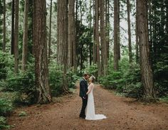 Inspired by their gorgeous, natural surroundings in the Pacific Northwest, Allison + Cody set out to design a wedding that fully represented the two of them to a T. After scouting a slew of venues that just didn't feel right, they decided to take an alternate route and venture out to an area they've loved exploring […]