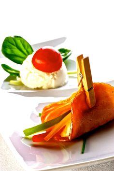 Creative Breakfast Presentation - Cottage cheese, black forest ham & peppers   SORA Catering by Jezersek  #creative #breakfast #idea