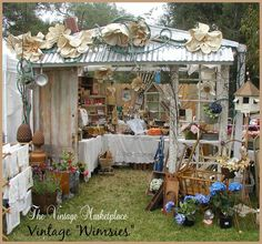 "Shop Front ~ Presentation ~ Facade ~ Garden Shed by: Vintage Whimsies at ""The Vintage Marketplace"""