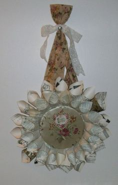 Book Page Valentine's Day Greeting Wreath coming soon to Black Diamond Memory Furniture Booth.
