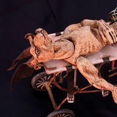 Steampunk cyborg Hare marionette