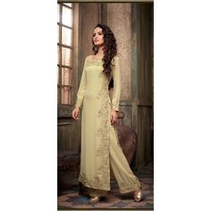 Eid Special Designer  Cream Georgette Party Wear Salwar Suit-SSF753MSC(ARTI -536)karishma