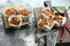 Apple and Rhubarb Crumble Muffin