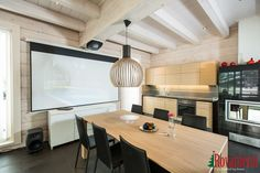 Kieppi –Rovaniemi Log House Head Office. Kitchen.