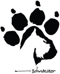 schnauzer in paw print -- love this one!