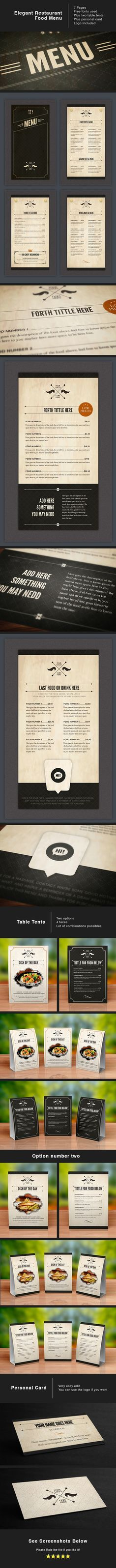 Restaurant Menu Template FoodMenu Template Designs Modern
