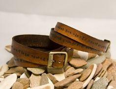 antique leather wrapped bracelets