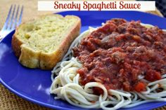 Mommy's Kitchen: Sneaky Spaghetti Sauce {Sneaking in the veggies}
