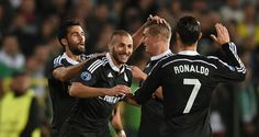 Karim Benzema: Celebrates his winner for Real Madrid