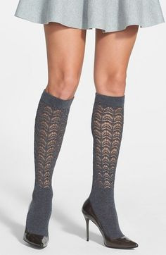 I had a pair of white ones that my grandmother got me in Ireland or Scotland. I wore them in college with a short wool skirt from my mom's college days. Free shipping and returns on OROBLU 'Eden' Pointelle Knit Socks at Nordstrom.com. Fine-gauge knit keeps your feet cozy while delicate open stitches create a lacy effect around the legs of ladylike knee-length socks.