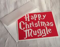 "This greeting for all the Muggles in your life. | 17 Holiday Cards Every ""Harry Potter"" Fan Needs"