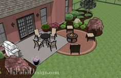 Ultimate Deck And Patio Area Retreat For Easy Living – Outdoor Patio Decor Small Patio Design, Backyard Patio Designs, Backyard Playground, Small Backyard Landscaping, Fire Pit Backyard, Diy Patio, Patio Ideas, Backyard Ideas, Firepit Ideas