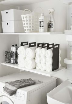 Bathroom Closet Organization, Linen Closet Organization, Bathroom Organisation, Closet Storage, Bathroom Storage, Bathroom Interior, Bathroom Ideas, Bathroom Remodeling, Apartment Bathroom Decorating
