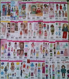 """New Simplicity Patterns American made for 18"""" Girl Doll Clothes (pick a pattern) #Simplicity"""