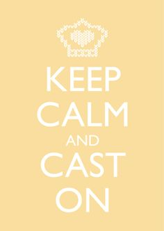 "Card Reading ""Keep Calm and Cast On"""