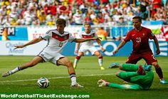 Thomas Muller completes his hat-trick as Germany rout Portugal // 2014 world cup Fifa 2014 World Cup, Brazil World Cup, Portugal Highlights, Highlights 2014, Fly Emirates Soccer Jersey, World Cup Live, Top League, Salah Liverpool, Germany Vs