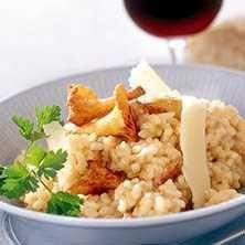 Krämig kantarellrisotto med parmesan - Recept - Tasteline.com