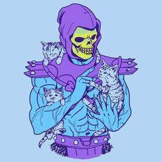 Skeletor with kittens