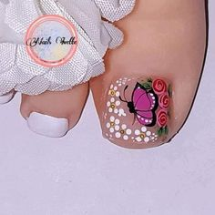 Cute Toe Nails, Cute Toes, Hot Nails, Toe Nail Art, Pretty Nails, Pedicure Nails, Manicure, Beautiful Toes, Toe Nail Designs