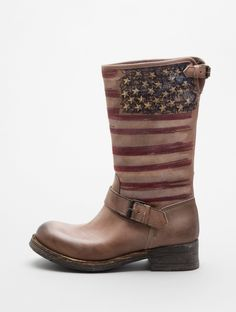USA Flag Boot. Completely awesome!