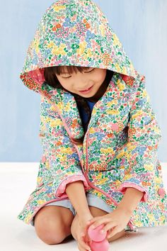 Floral print technical jacket